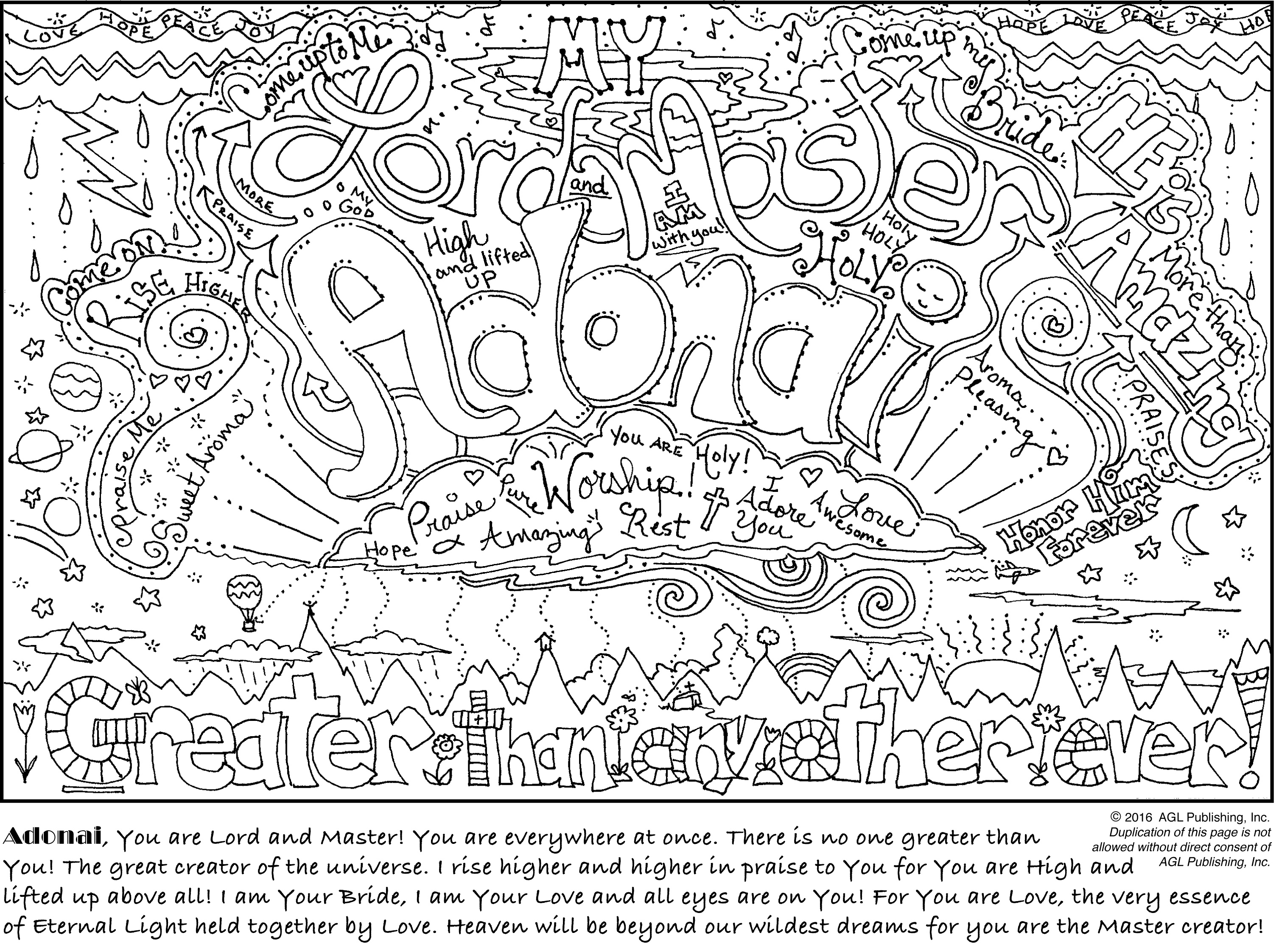 My Coloring Journal – Names of God & Encouragements ... A Coloring Page Of A Heart